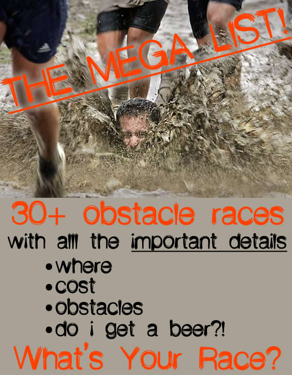 the mega list obstacle races and info
