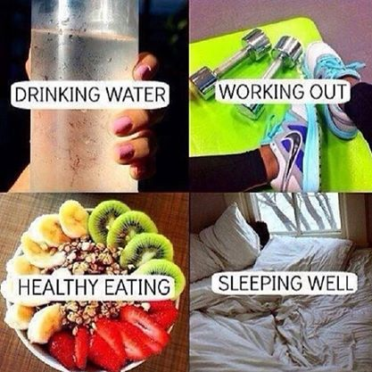 Fitness Motivational Quotes Drinking Water, Working Out, Healthy Eating, Sleeping Well
