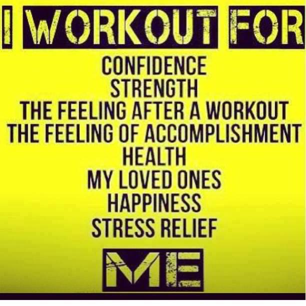 Fitness Motivational Quotes I Workout For Me