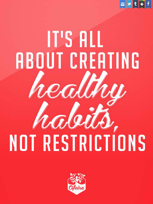 Fitness Motivational Quotes It's All About Creating Healthy Habits Not Restrictions