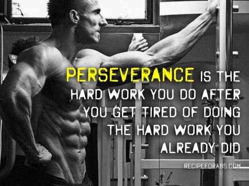 Fitness Motivational Quotes Perserverance Is The Hard Work You Do After You Get Tired Of Doing The Hard Work You Already Did