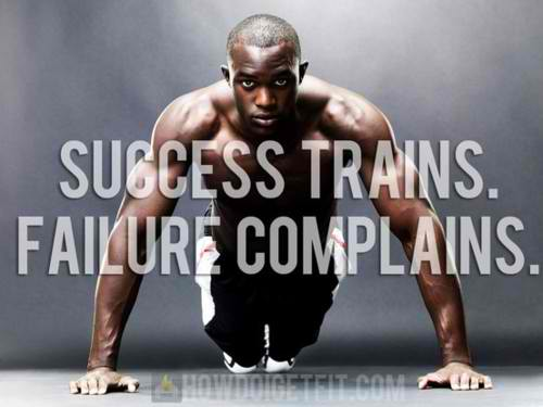 Fitness Motivational Quotes Success Trains, Failure Complains