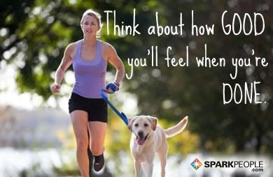 Fitness Motivational Quotes Think About How Good You'll Feel When You're Done