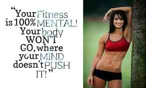Fitness Motivational Quotes Your Body Won't Go Where Your Mind Doesn't Push It