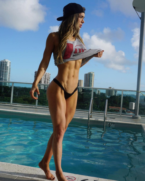 poolside muscles body motivation